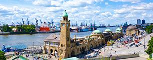 Ansicht Hafen Hamburg