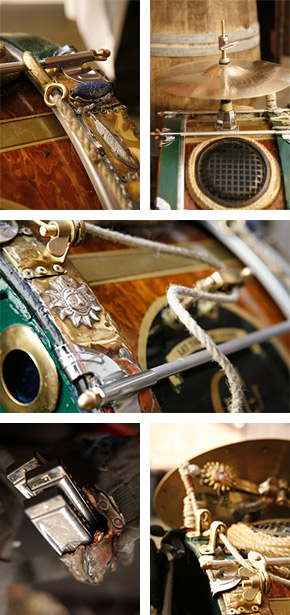 Verziertes Schlagzeug