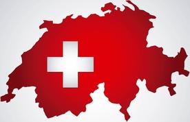 Landkarte Schweiz