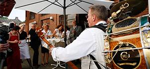 Straßenmusiker in Hamburg