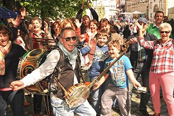 Unterhaltungskünstler für Straßenfest Stadtfest